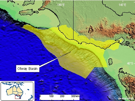 Otway Basin Location Map from the Geoscience Australia website.
