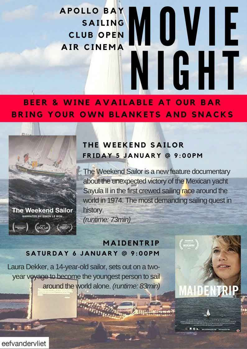 1801 sailing club movie nights
